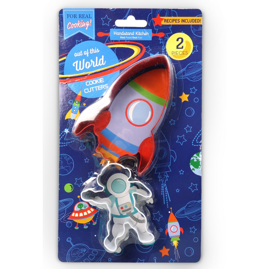 Set of Two Out of this World Space Themed Cookie Cutter Set