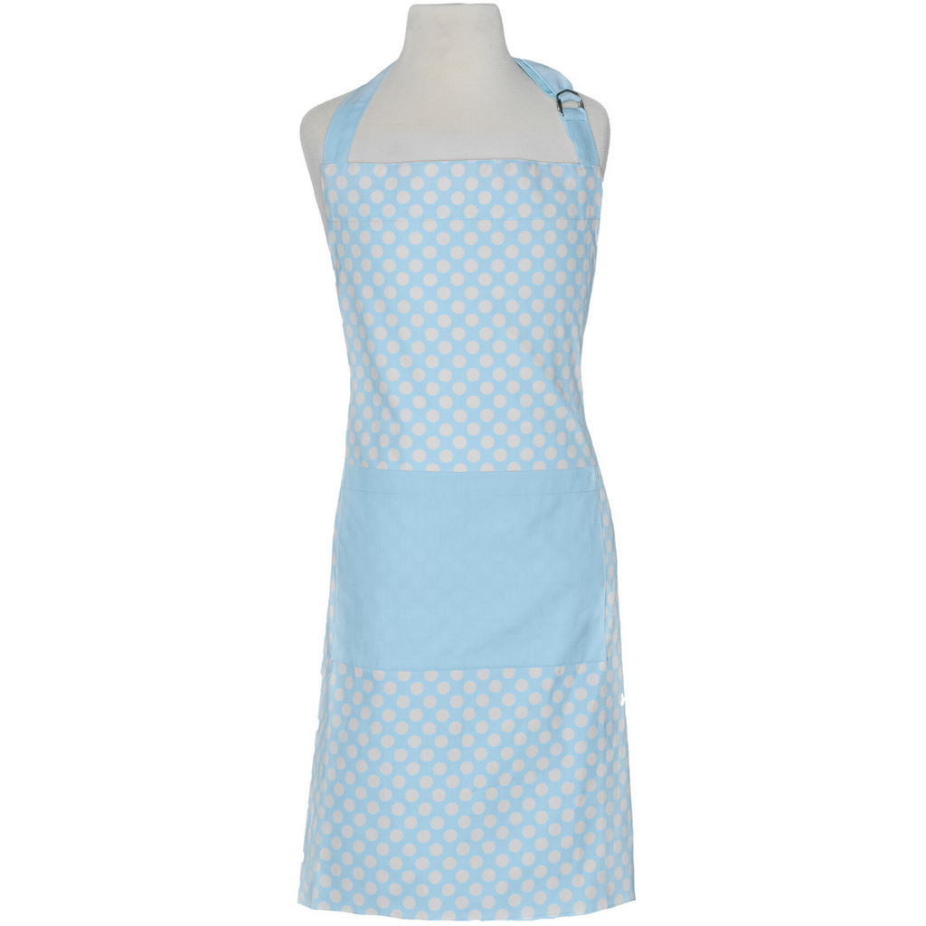 Light Blue Polka Dot Kids Cooking Apron
