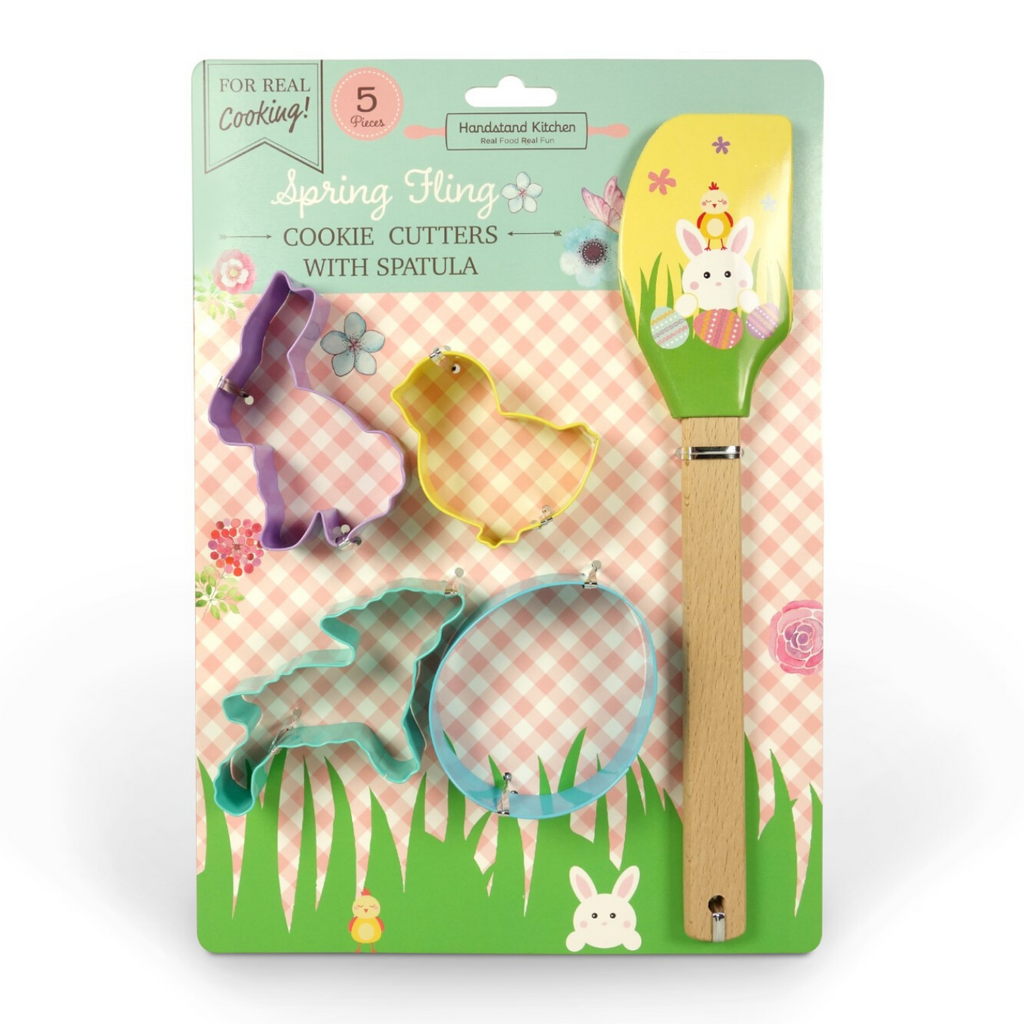 Spring Fling Kids Cooking Kit with Cookie Cutters and Spatula