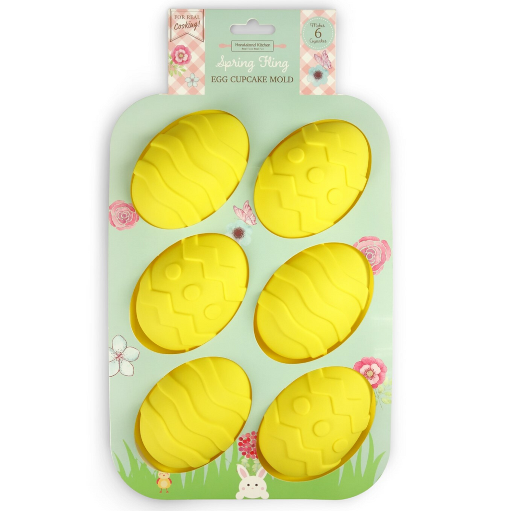 Spring Fling Silicone Cupcake Mold Egg Shaped Easter Cupcakes