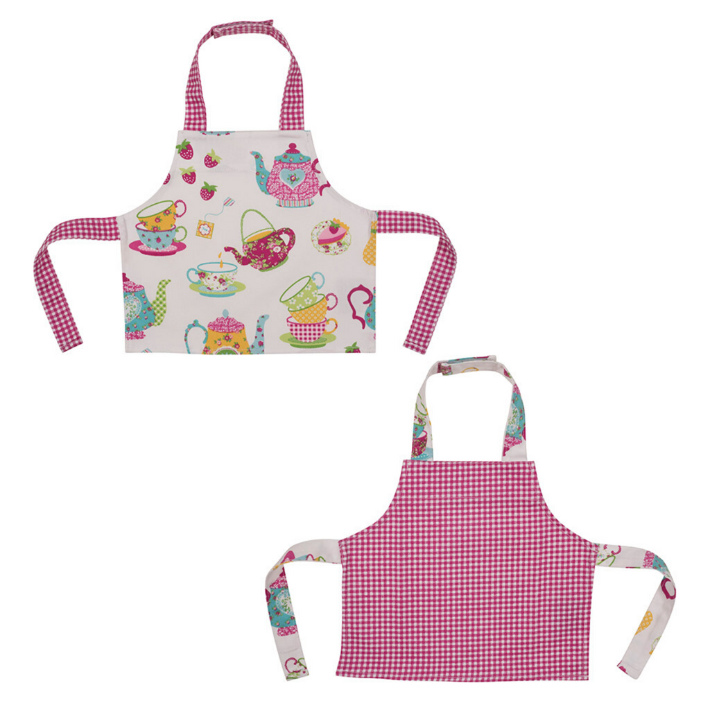 Tea Party Printed Kids Baking Bib 2 Pack