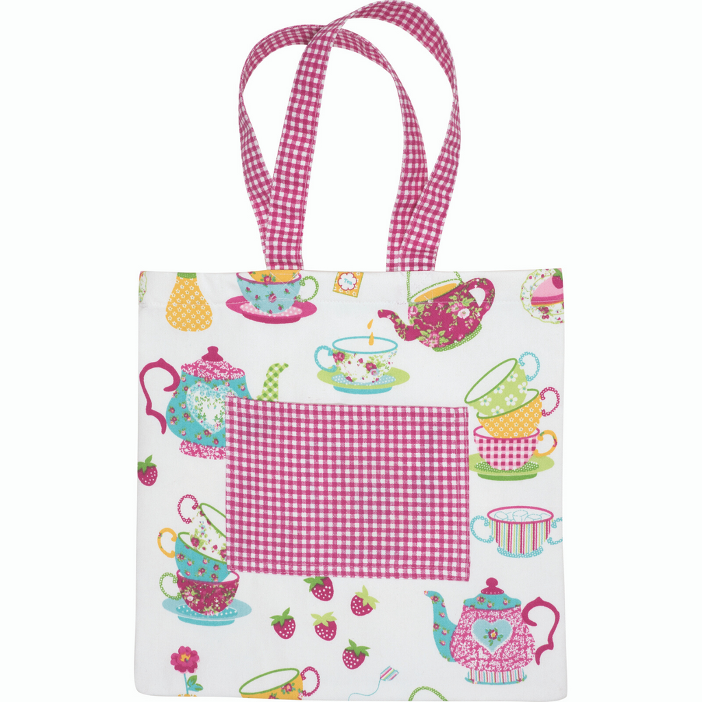 Tea Party Pink Printed Kids Tote Bag