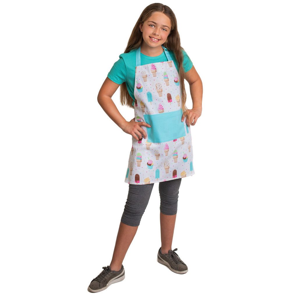 Kids Ice Cream Print Unisex Cooking Apron