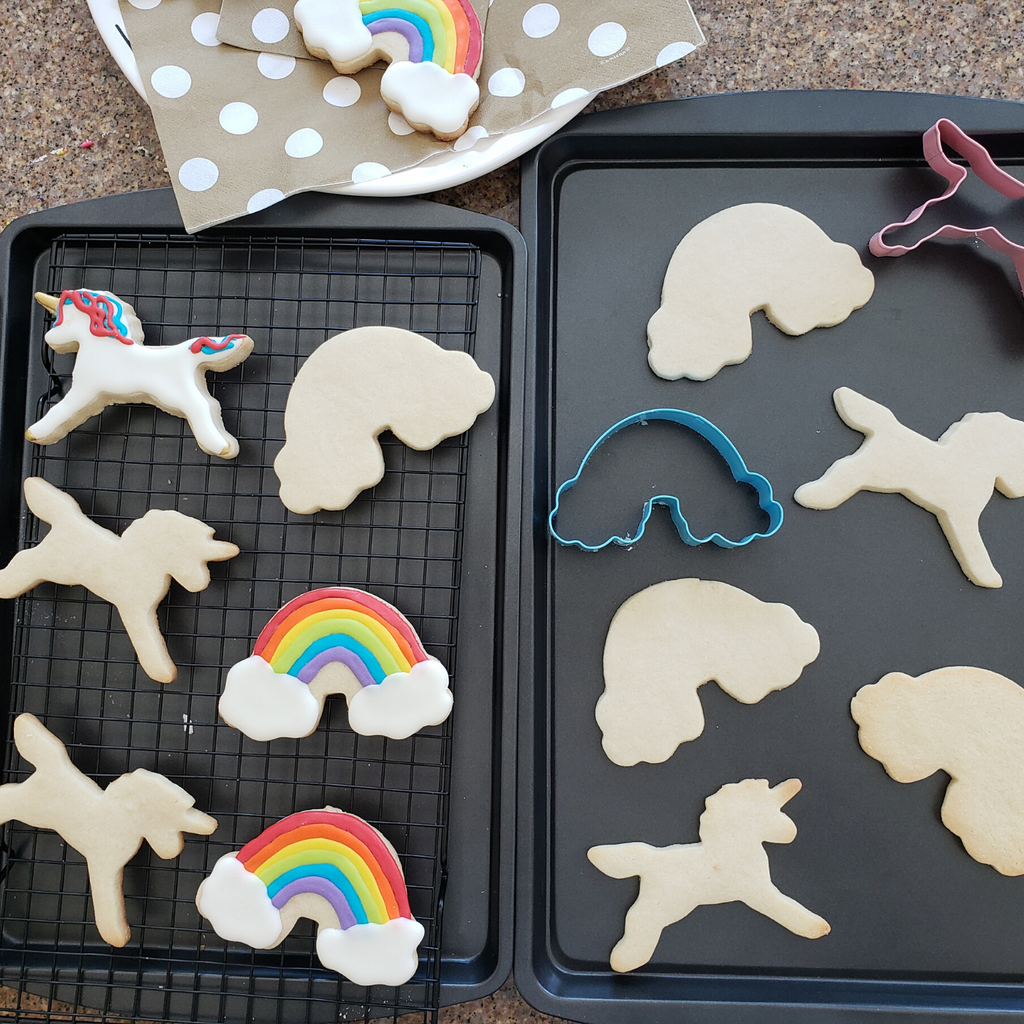Rainbow and Unicorn Kids Cookie Cutter 10 Piece Set