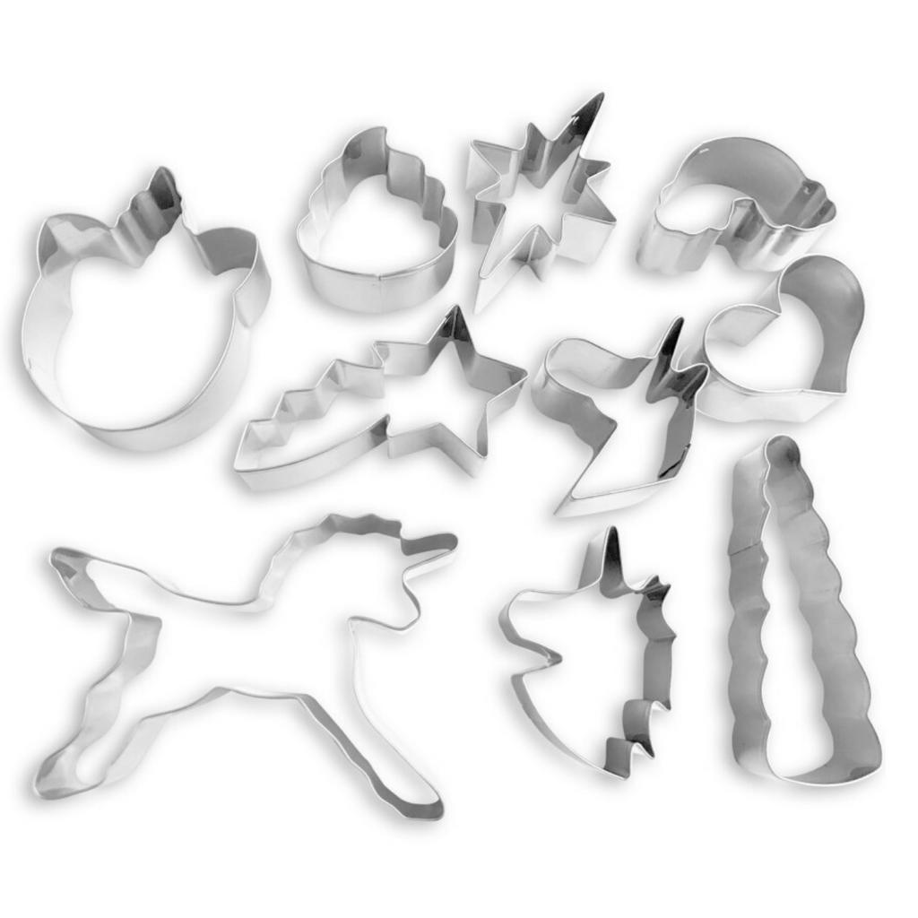Stainless Steel Rainbow and Unicorn Cookie Cutters