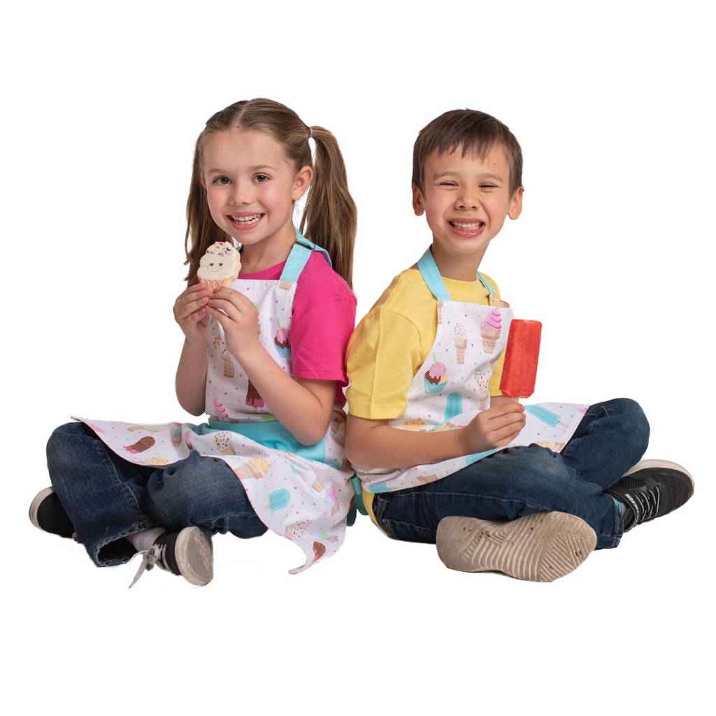 Ice Cream Print Cotton Kids Apron