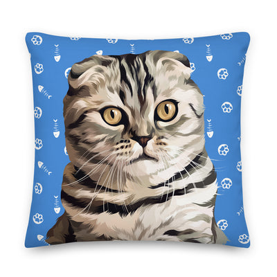 Cat Paws and Bones Pillow (Large Face)