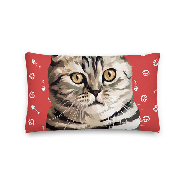 Custom Cat Pillow (Large Face)