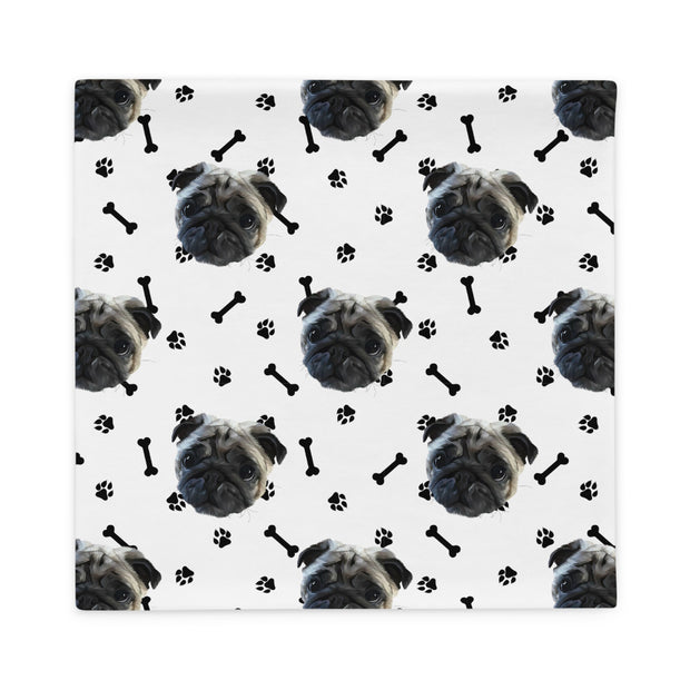 Custom Dog Paws and Bones Pillowcase