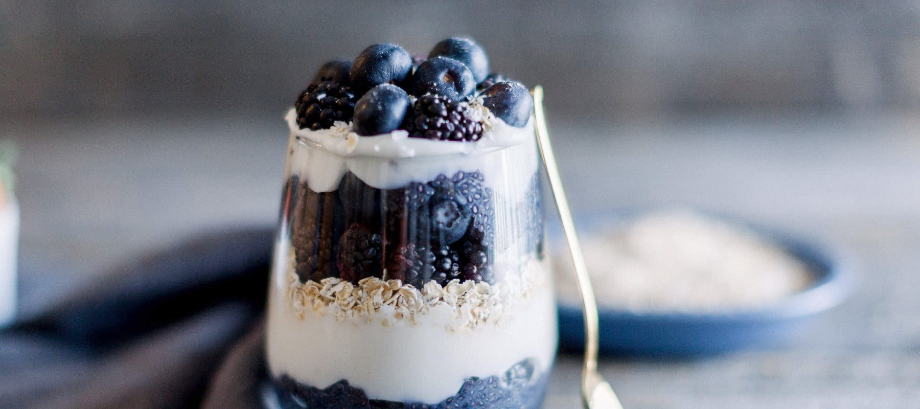 Blackberry Blueberry Parfait by Amber Approved