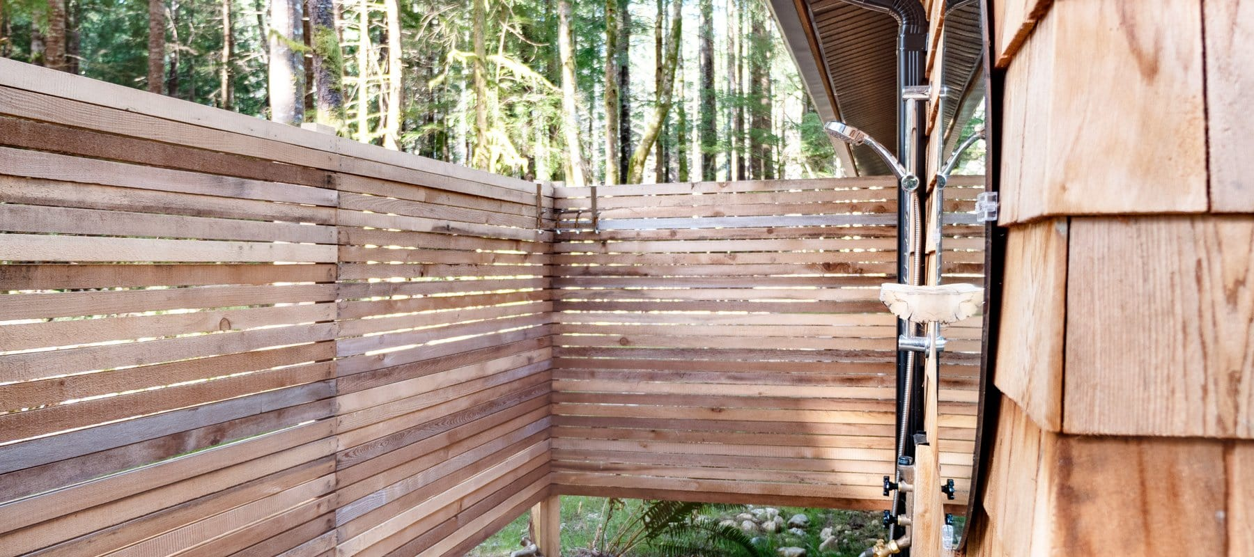 Outdoor showers in Canada