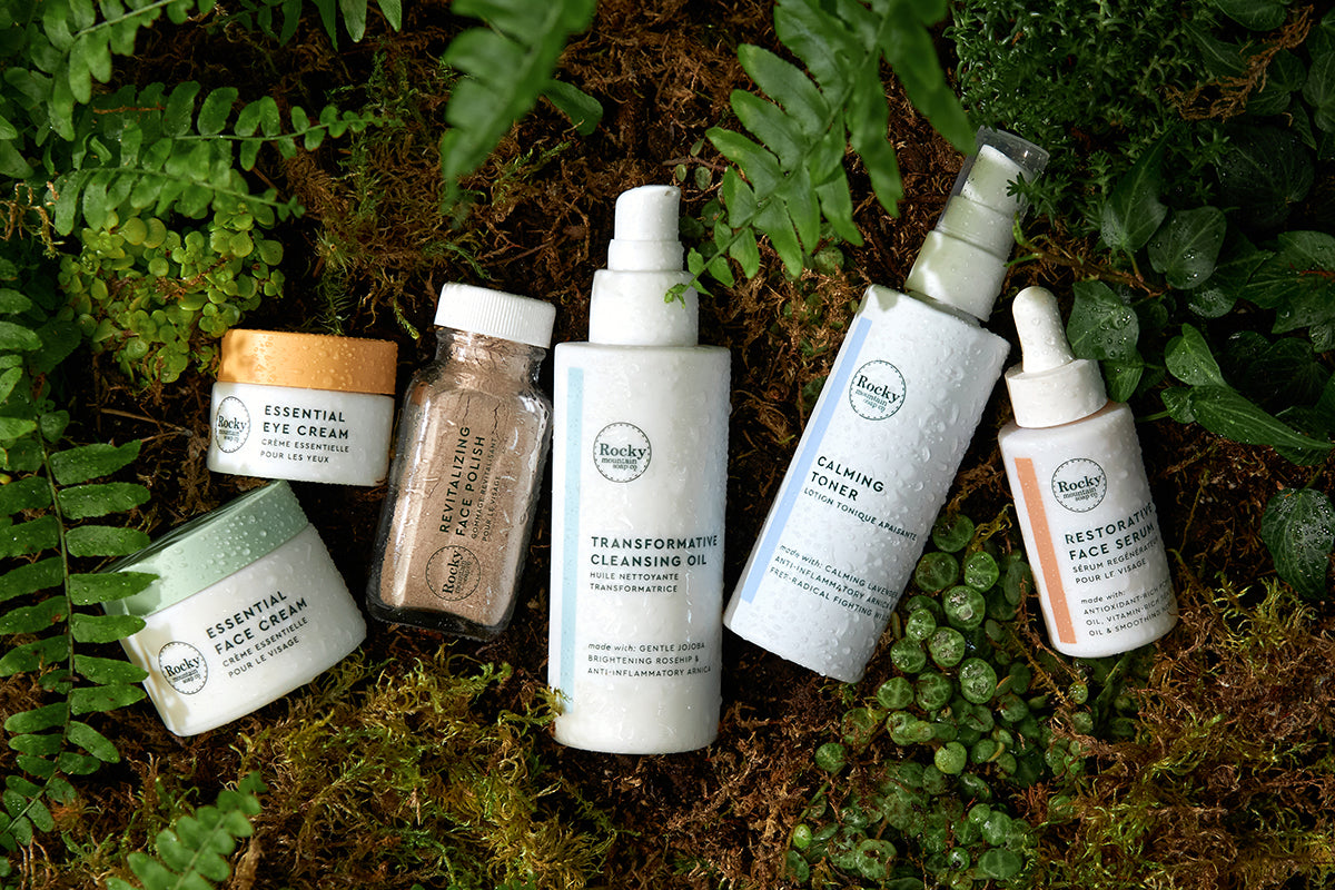 All natural made in Canada skincare collection from Rocky mountain Soap Company