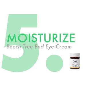 5. moisturize with eye cream