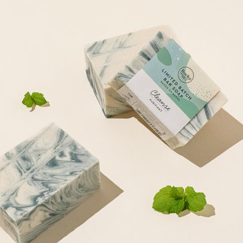 Image of natural Cleanse bar soap from Rocky Mountain Soap Company.