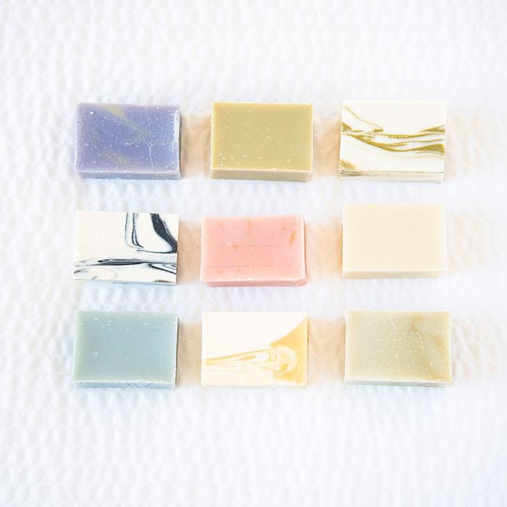 unwrapped soap