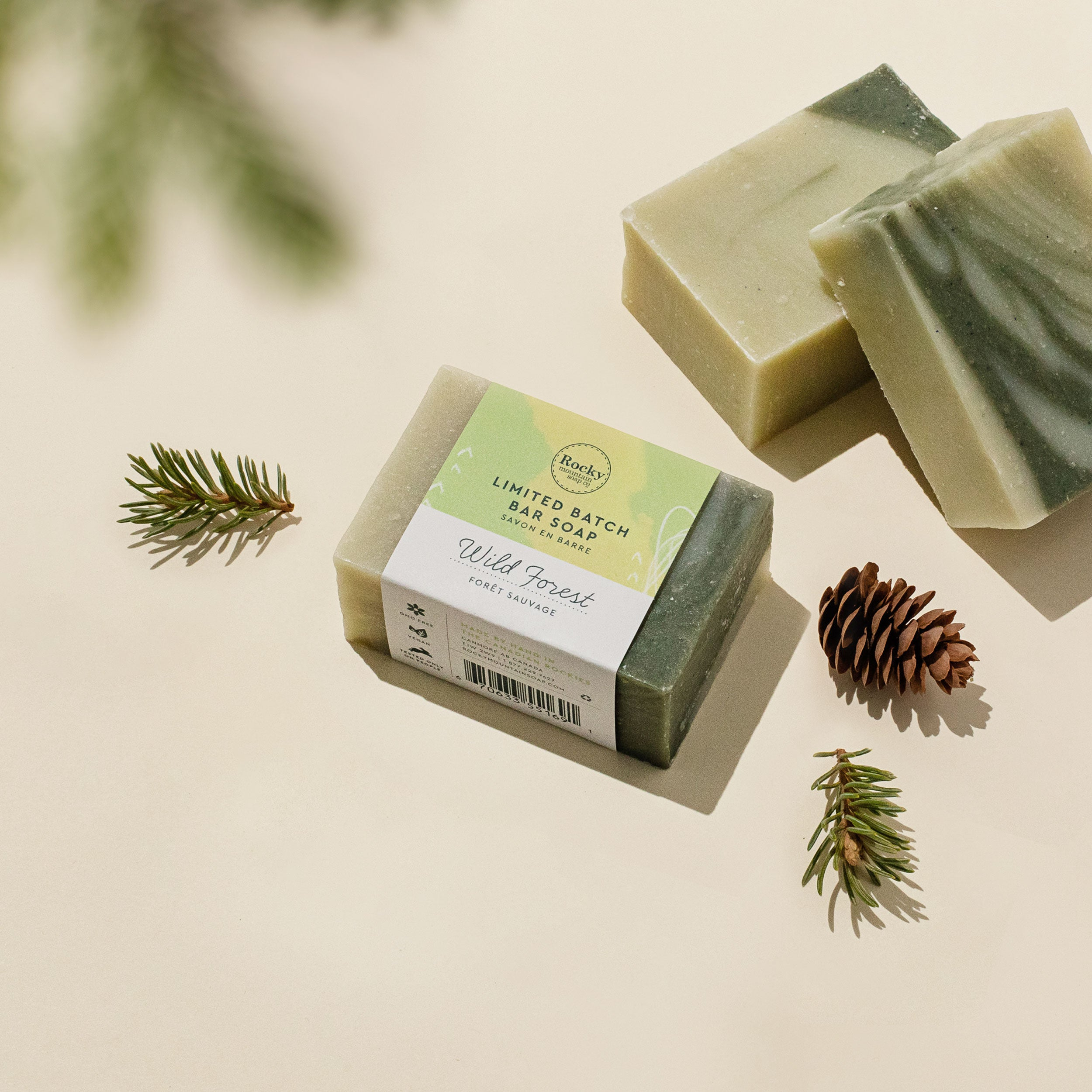 image of wild forest handmade Canadian natural bar soap