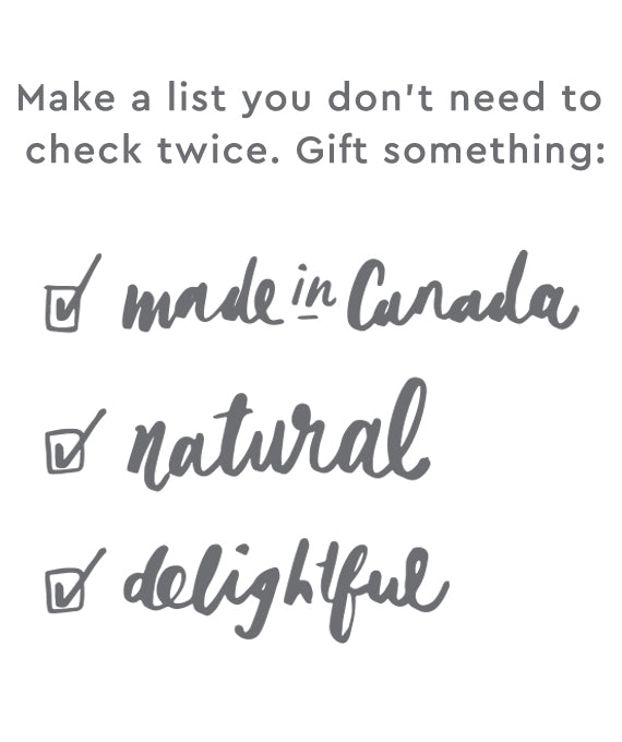 made in canada, natural, and delightful gifts
