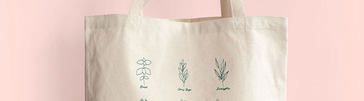 free botanical tote bag
