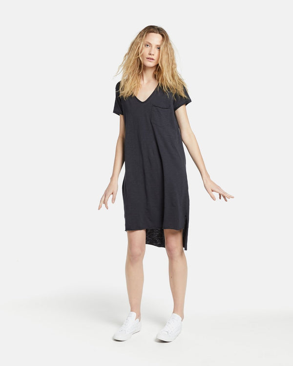 Relaxed V Neck Funky Dress - Social SparklerJAC + MOOKI