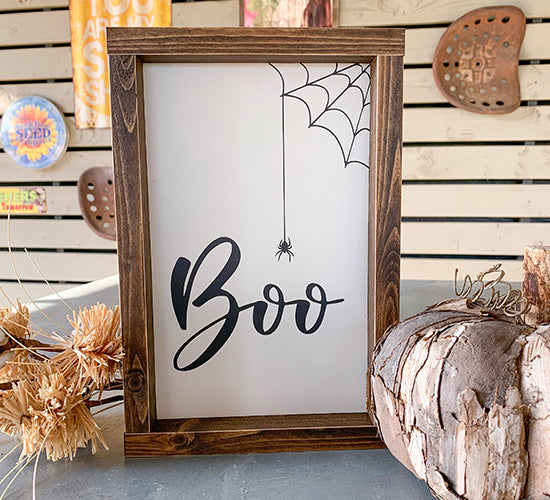 Boo Spider Sign