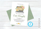 Virtual Floral Bridal Shower Invitation