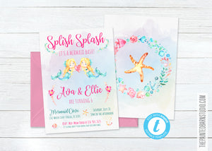 Mermaid Bash Birthday Invitation - Blonde