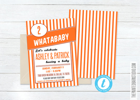 Whataburger Baby Shower Invitation