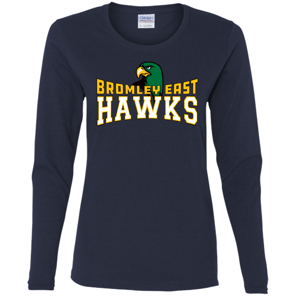 Hawk Originals (BROMLEY EAST HAWKS w/Hawk) Ladies' Cotton LS T-Shirt