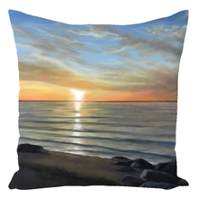 Load image into Gallery viewer, Wading River Sunset Beach Throw Pillows