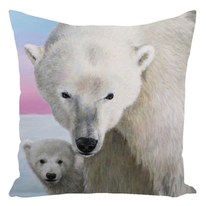 The Guardian Polar Bear Throw Pillows