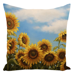 Sunflower Dance Throw Pillows
