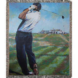 Golf At Shinnecock Woven Blankets