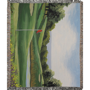 Golf on The Sound Woven Blankets