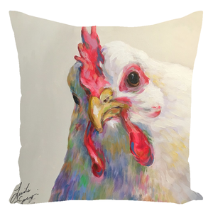 Agnes The Chicken Throw Pillows