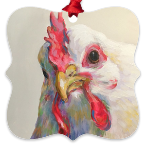 Agnes the Chicken Eco Friendly Metal Ornaments
