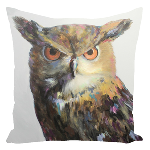 Aria The Owl Throw Pillows