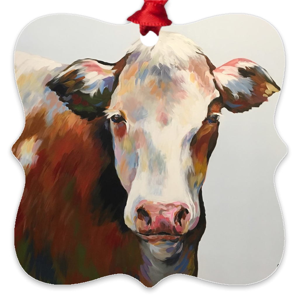 Bessie the Cow  Eco Friendly Metal Ornaments