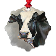 Load image into Gallery viewer, Frances the Cow Eco Friendly Metal Ornaments