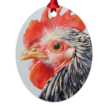 Load image into Gallery viewer, Margaret the Hen Eco Friendly Metal Ornaments