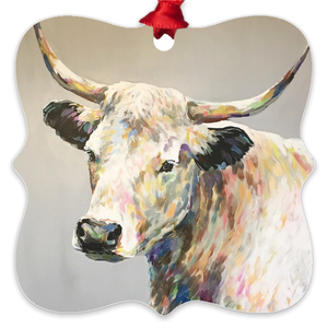 Raymond the Steer Eco Friendly Metal Ornaments