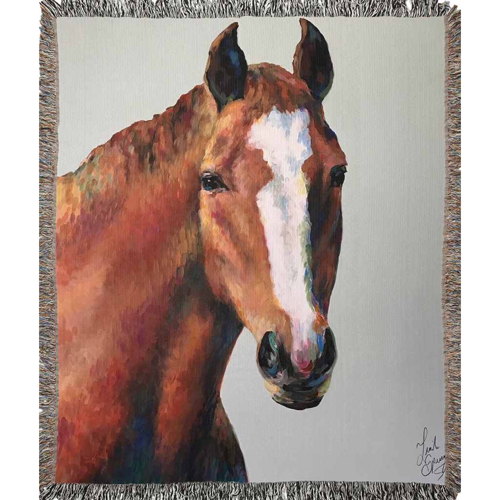 Roger the Horse Woven Blankets