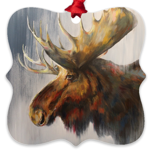 Samuel the Moose Eco Friendly Metal Ornaments