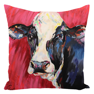 Colorful Cow Throw Pillows