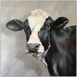 "Frances the Cow Metal Print 16"" by 16"""