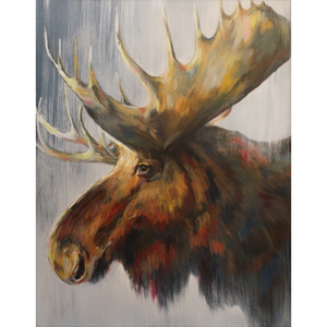 Samuel The Moose Fleece Blankets
