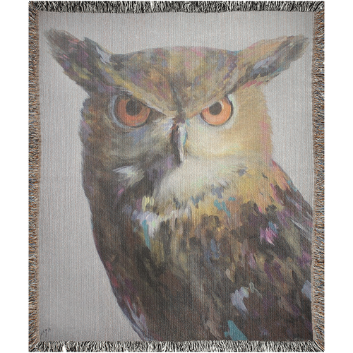 Aria The Owl Woven Blankets
