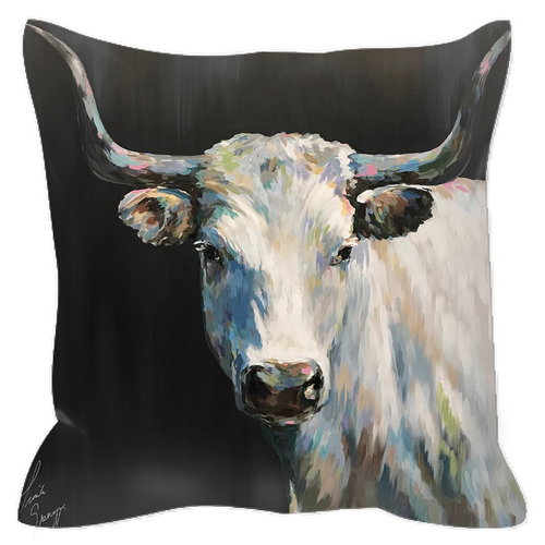 Aremis the Steer Outdoor Pillows