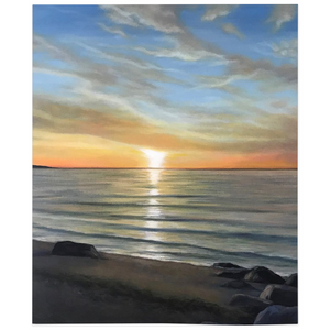 Wading River Beach Fleece Blankets
