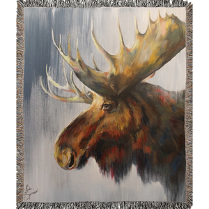 Samuel The Moose Woven Blanket