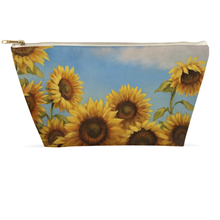 Load image into Gallery viewer, Sunflower Accessory Pouch